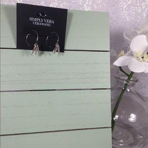 🆕 Simply Vera Vera Wang Silver Hoop Earrings